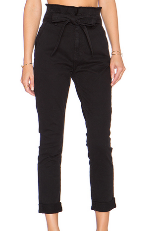 7 For All Mankind PaperBag Waist Roxanne Jean - black
