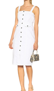 Grlfrnd Petra Midi Dress - white