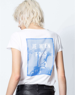 Zadig & Voltaire Photoprint Graphic Tee Blue - white
