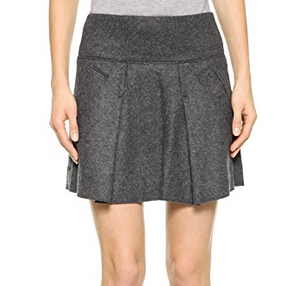 Vince Pleated Skirt - grey