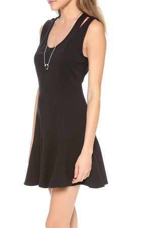 Rebecca Minkoff Ponte Tijuana Dress - black