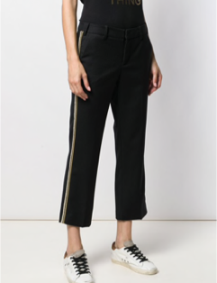 Zadig & Voltaire Posh Militaire Pant with gold stripe - black