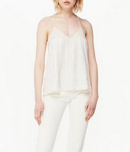 Cami NYC Racer Praire Stripe Cami - Oat