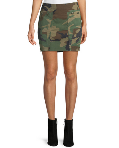 Kendall & Kylie Repurposed Skirt - camo