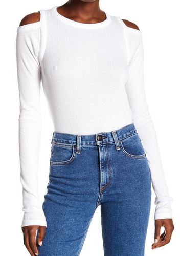 Rag & Bone Rosalind Long Sleeve Top - White