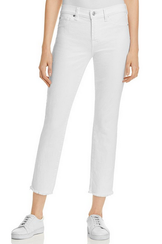 7 For All Mankind Roxanne Ankle Jean - white