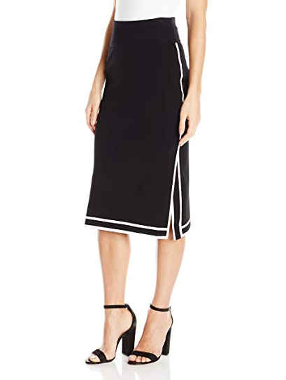 Kendall & Kylie Sports Border Skirt - black