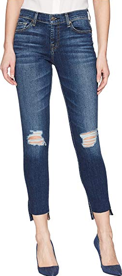 7 For All Mankind Ankle Skinny with Step Hem Jean - MND2