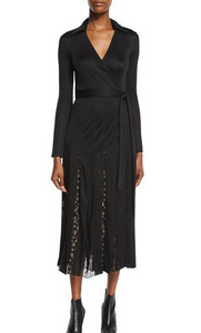 DVF Stevie Knit Dress - black