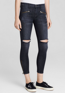 Current/Elliott The Soho Zip Stiletto Jean - biker des