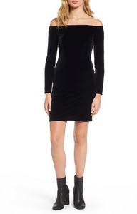 Bailey44 Stroke of Midnight Velvet Dress - black