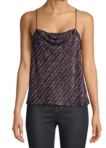 Parker Summer Beaded Top - black multi