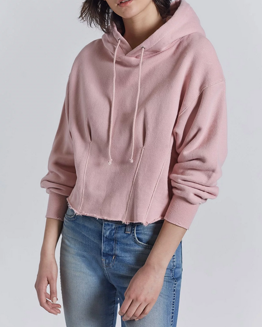 Current/Elliott The PinTuck Hoodie - pink