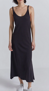 Current/Elliott The Twisted Dress - black