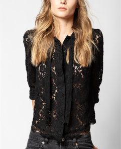 Zadig & Voltaire Touch Lace Top - black