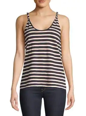 Current/Elliott The Twisted Tank - blue/white