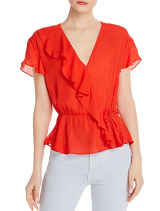 Parker Weston Flare Top - red