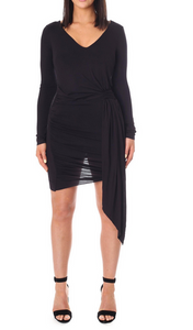Kendall & Kylie Wrap Dress - black