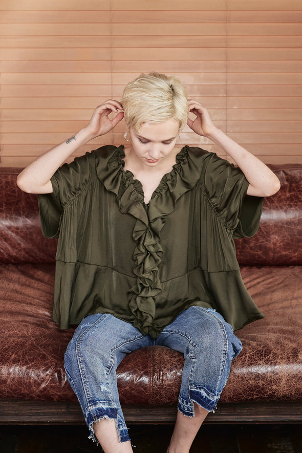 FRONT FRILL 3WAY BLOUSE