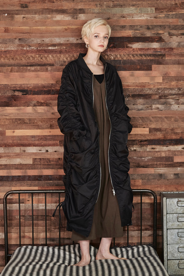 SIDE DRAWSTRING LONG MA-1