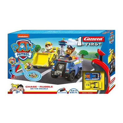 Paw Patrol Racerbane med Chase & Rubble
