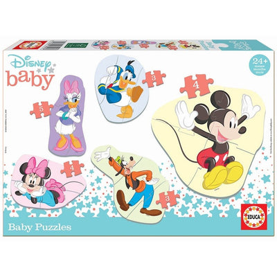 Disney baby puslespill (Mikke Mus, Donald Duck, Dolly, Minni Mus, Langbein)