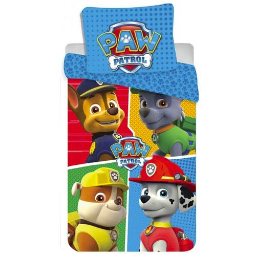 "Paw Patrol ""4 faces"" Junior Sengesett 100x135 cm bomull"
