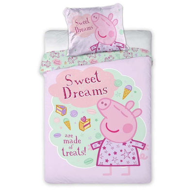 "Peppa Gris ""Sweet Dreams"" Junior Sengesett 100x140 cm bomull"