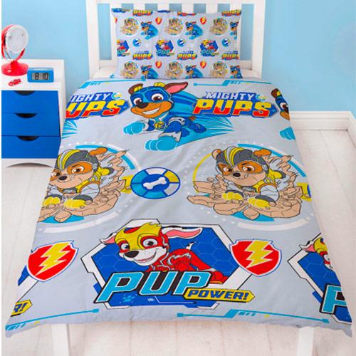 Paw Patrol Mighty Pups Senior Sengesett reversibel 140x200 cm