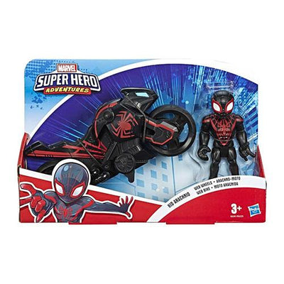 Spiderman dark Hero figur incl motorcykel