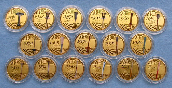 Previous Olympic Torch Coins Set 2
