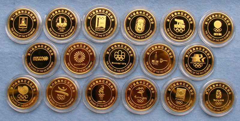 Previous Olympic Torch Coins Set 3
