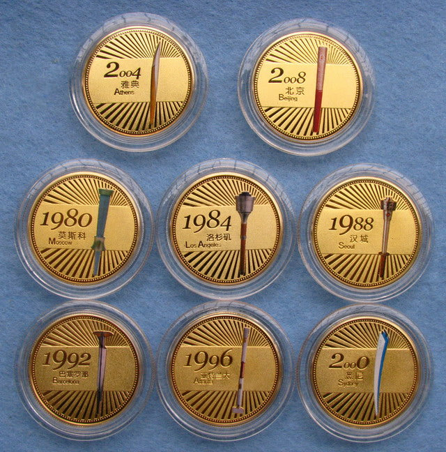Previous Olympic Torch Coins Set 5