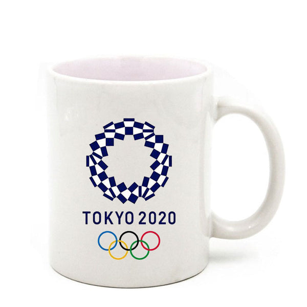 2020 Olympics Emblem Coffee Mugs White Ceramic Cup Handmade Gifts