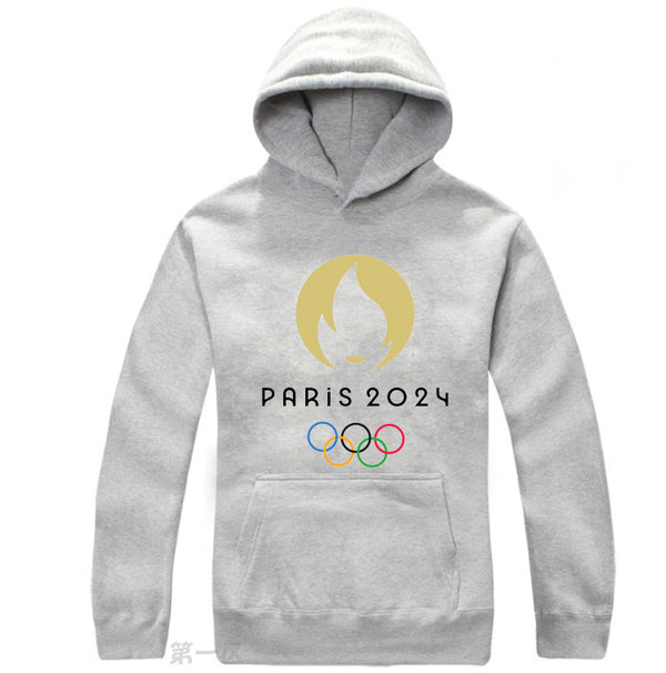 Paris 2024 Olympic Games Emblem Hoodie Pullover Hooded Sweatshirt