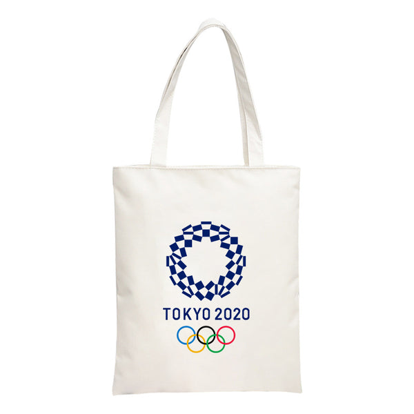 Tokyo 2020 Olympic Games Handbag Simple Canvas Shopping Bag