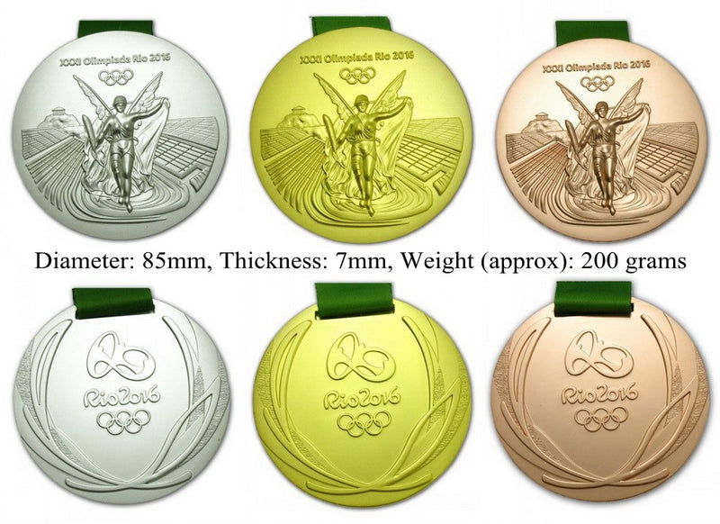 Rio 2016 Olympic Medals Set 3