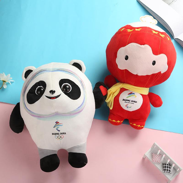 Beijing 2022 Olympic Winter Games Paralympic Mascot Panda Dolls Plush Toy Pillow
