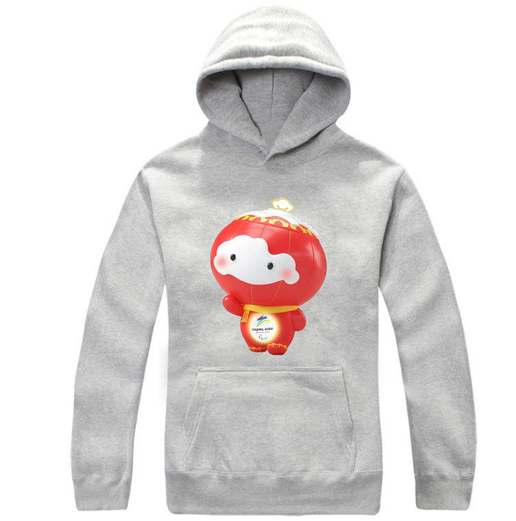 Beijing 2022 Winter Olympic Games Emblem Mascot Hoodie Hooded Sweatshirt