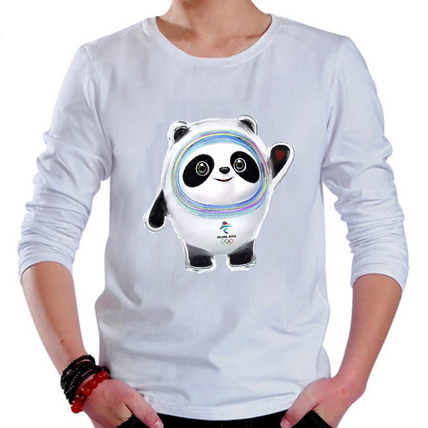 Beijing 2022 Winter Olympic Games Emblem Mascot T-shirt Long Sleeve Tee