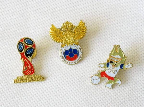 2018 Russia World Cup Mascot Emblem Pin Set 1