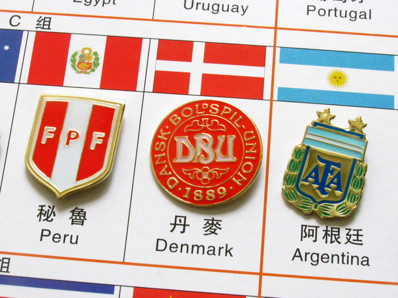 Russia 2018 FIFA World Cup 34 Pin Set 5