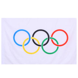 Olympic Games Flag Olympics Rings International World Banner