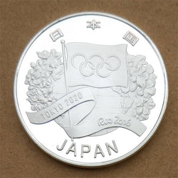 Tokyo 2020 Olympic Games And Rio 2016 Handover Ceremony Flag Silver Coin