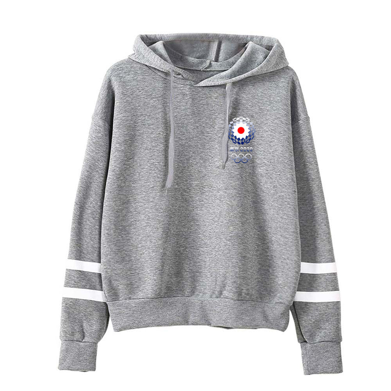 Tokyo 2020 Olympic Games Emblem Hooded Sweater Women's Fleece Sweatshirt