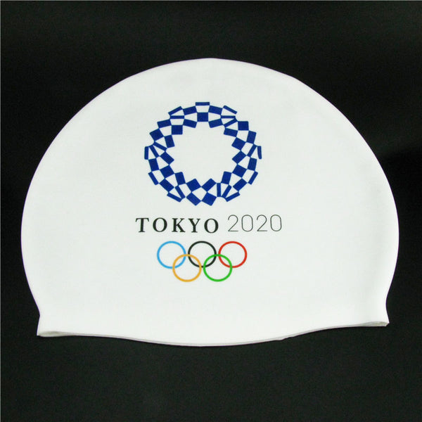 Tokyo 2020 Olympic Games Silicone Swimming Cap Soft Waterproof Training Unisex