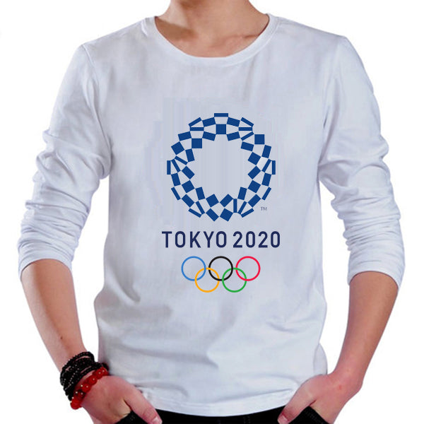 Tokyo 2020 Olympic Games Emblem Mascot 100% Cotton T-shirt Long Sleeve Tee