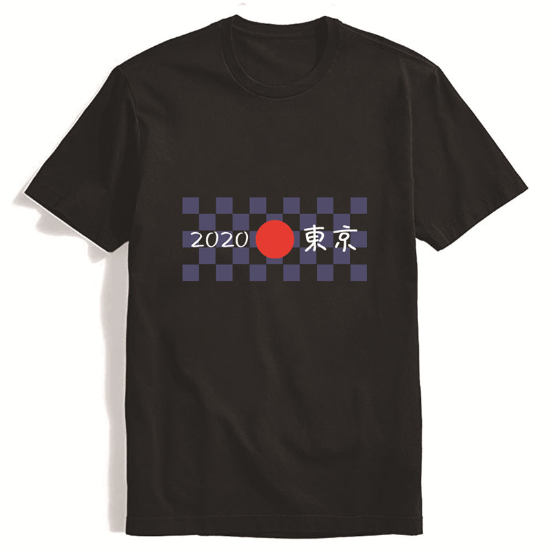 Tokyo 2020 Olympic Games Crew Neck T-shirt 100% Cotton Short Sleeve Tee