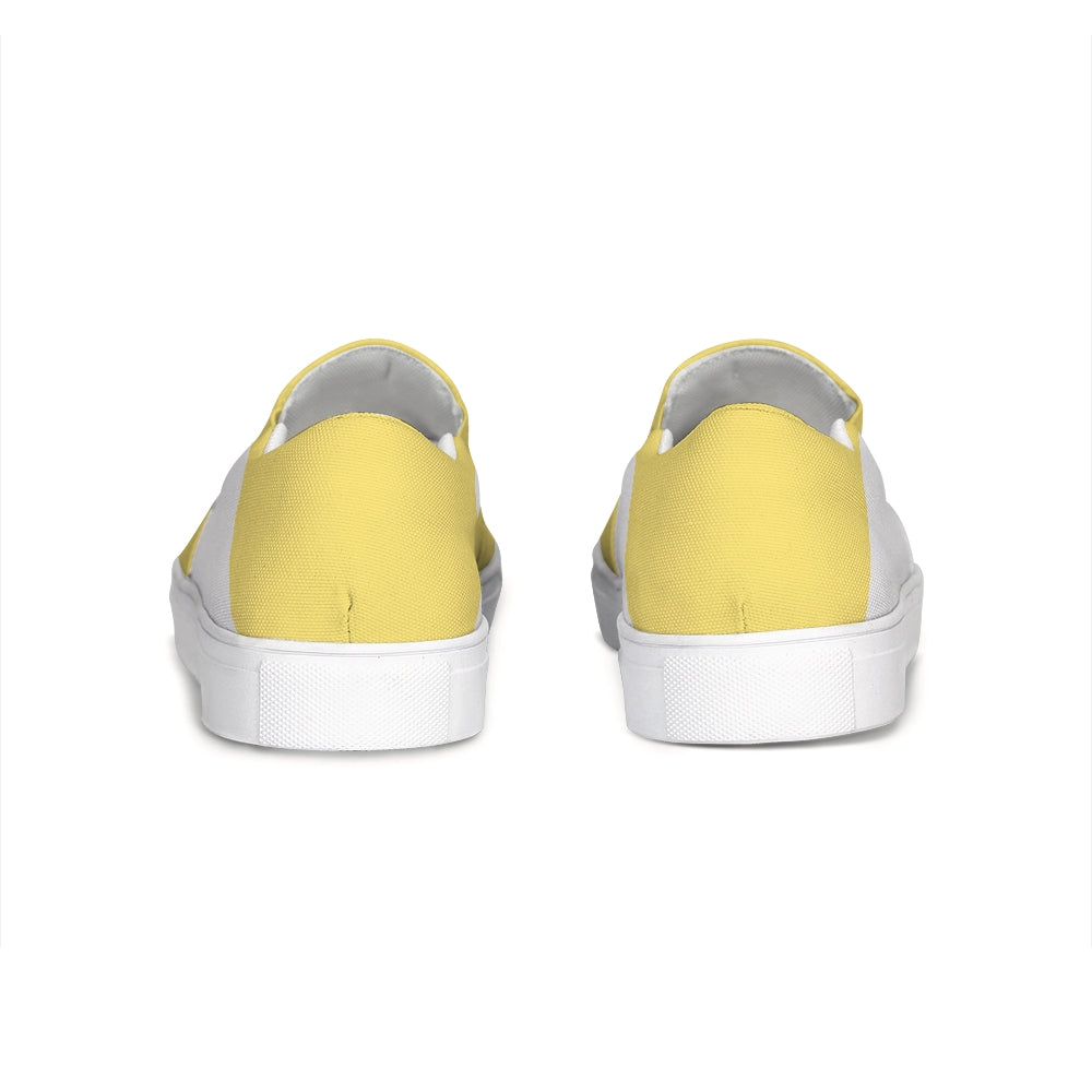 Uppsala Yellow-White Slip-On