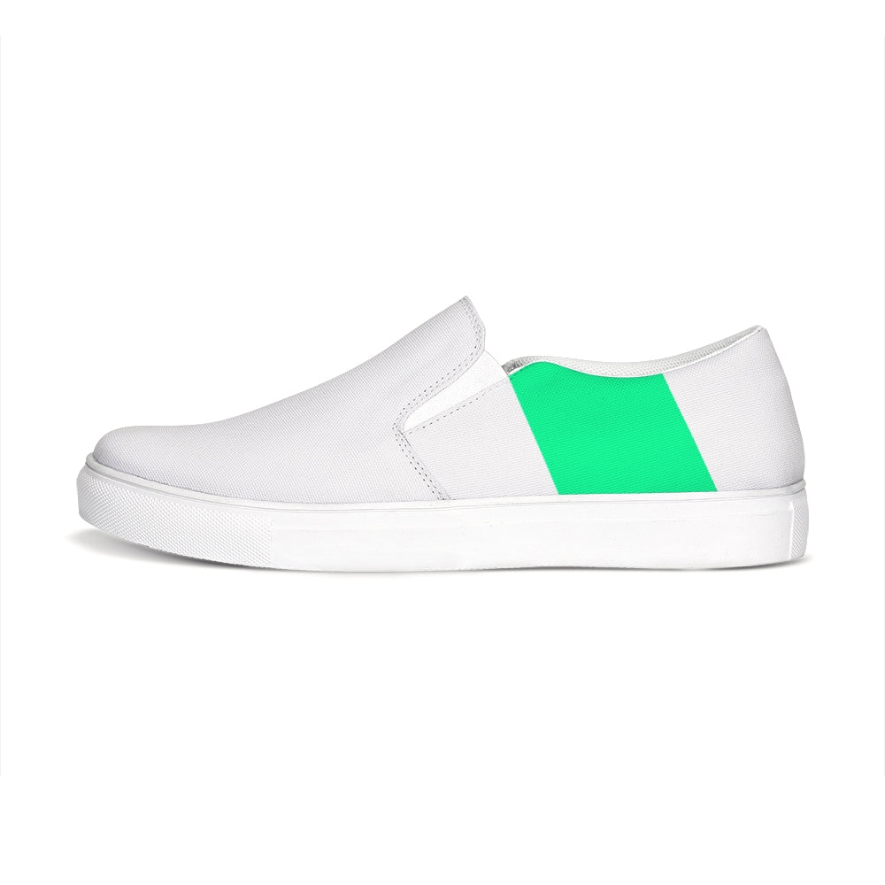 Uppsala White-Green Slip-On